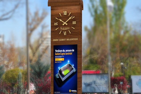 Reklam Alanlı Meydan Saati